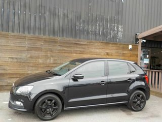 2015 Volkswagen Polo 6R MY15 66TSI Trendline Black 5 Speed Manual Hatchback