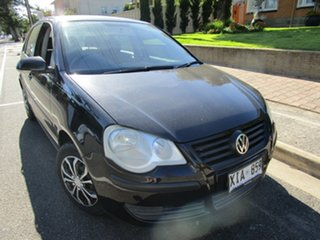 2005 Volkswagen Polo 9N Match Black 5 Speed Manual Hatchback.