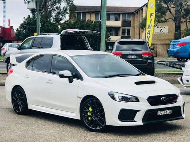 Used Subaru WRX V1 MY18 STI AWD Liverpool, 2018 Subaru WRX V1 MY18 STI AWD White 6 Speed Manual Sedan