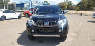 2018 Mitsubishi Triton MQ MY18 Exceed Double Cab Black 5 Speed Sports Automatic Utility