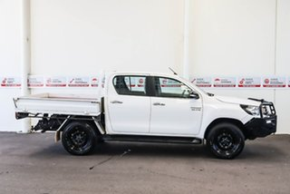 2017 Toyota Hilux GUN126R SR (4x4) Glacier White 6 Speed Automatic Dual Cab Chassis