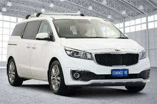 2015 Kia Carnival YP MY15 Platinum Clear White 6 Speed Sports Automatic Wagon.