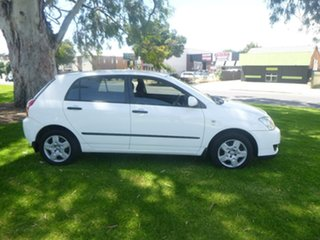 2005 Toyota Corolla ZZE122R Ascent White Manual Hatchback.