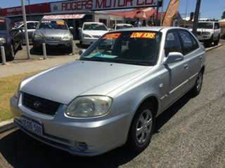 2005 Hyundai Accent LS 1.6 Silver 4 Speed Automatic Hatchback.