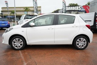 2015 Toyota Yaris NCP130R MY15 Ascent White 5 Speed Manual Hatchback