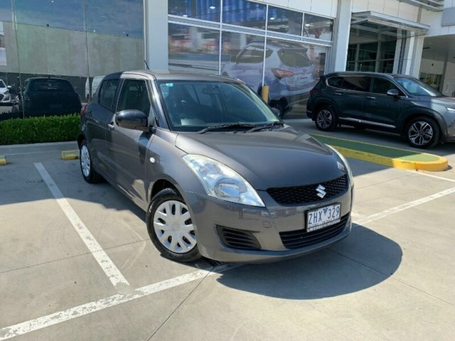 Used Suzuki Swift FZ GA Melton, 2012 Suzuki Swift FZ GA Mineral Grey 4 Speed Automatic Hatchback