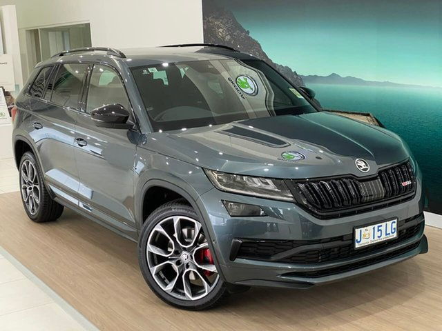 Demo Skoda Kodiaq NS MY20.5 RS DSG Hobart, 2020 Skoda Kodiaq NS MY20.5 RS DSG Grey 7 Speed Sports Automatic Dual Clutch Wagon