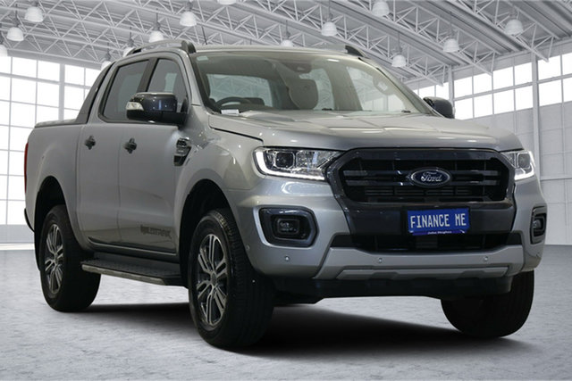Used Ford Ranger PX MkIII 2020.25MY Wildtrak Victoria Park, 2020 Ford Ranger PX MkIII 2020.25MY Wildtrak Aluminium 10 Speed Sports Automatic Double Cab Pick Up