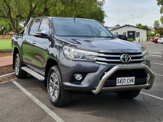 2016 Toyota Hilux GUN126R SR5 Double Cab Grey 6 Speed Sports Automatic Utility.