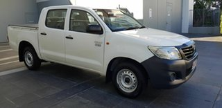 2014 Toyota Hilux TGN16R MY14 Workmate White 4 Speed Automatic Dual Cab Pick-u