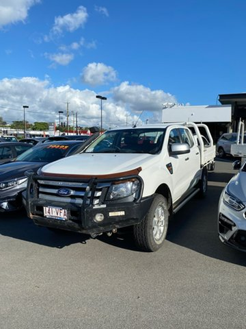 Used Ford Ranger PX XLS Double Cab Mount Gravatt, 2014 Ford Ranger PX XLS Double Cab White 6 Speed Manual Utility