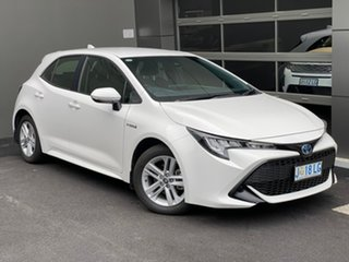2019 Toyota Corolla ZWE211R Ascent Sport E-CVT Hybrid White 10 Speed Constant Variable Hatchback.