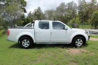 2010 Nissan Navara D40 ST White 5 Speed Automatic Utility