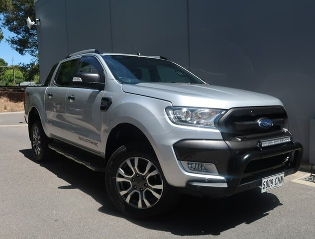 Used Ford Ranger PX MkII 2018.00MY Wildtrak Double Cab Reynella, 2018 Ford Ranger PX MkII 2018.00MY Wildtrak Double Cab Silver 6 Speed Sports Automatic Utility