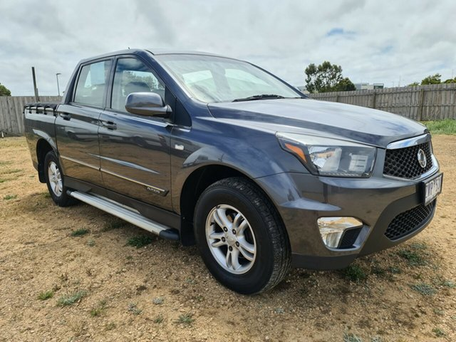 Used Ssangyong Actyon Sports Q150 MY12 SX 4x2 Warrnambool East, 2013 Ssangyong Actyon Sports Q150 MY12 SX 4x2 Grey 6 Speed Sports Automatic Utility