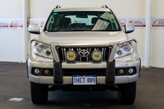 2010 Toyota Landcruiser Prado KDJ150R GXL Silver Pearl 5 Speed Sports Automatic Wagon.