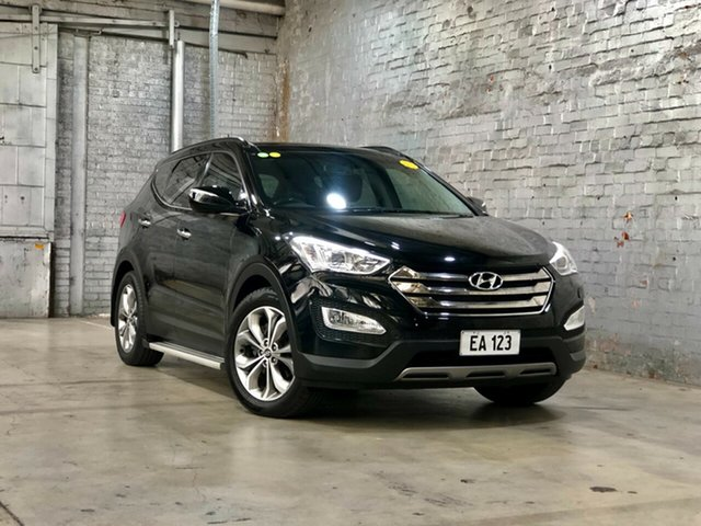 Used Hyundai Santa Fe DM MY13 Highlander Mile End South, 2013 Hyundai Santa Fe DM MY13 Highlander Black 6 Speed Sports Automatic Wagon