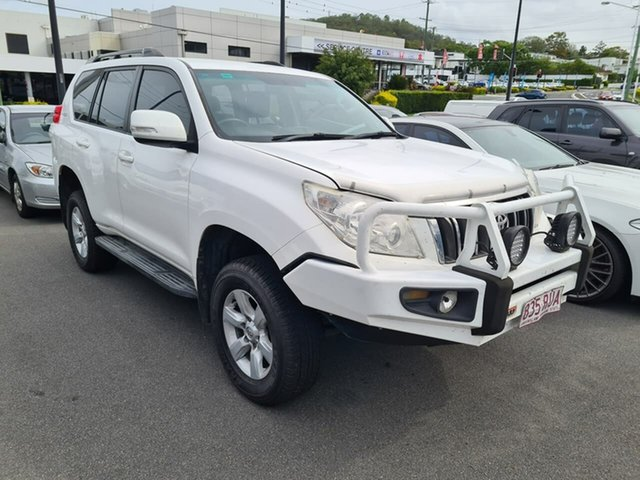 Used Toyota Landcruiser Prado KDJ150R GXL Mount Gravatt, 2011 Toyota Landcruiser Prado KDJ150R GXL White 6 Speed Manual Wagon