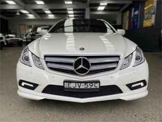 2009 Mercedes-Benz E-Class C207 E350 Avantgarde White Sports Automatic Coupe.