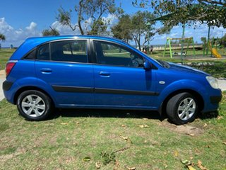 2007 Kia Rio JB MY07 LX Blue 4 Speed Automatic Hatchback.