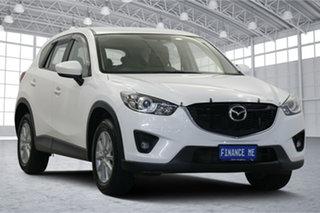 2014 Mazda CX-5 KE1021 MY14 Maxx SKYACTIV-Drive AWD Sport White 6 Speed Sports Automatic Wagon.