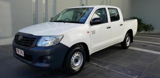 2014 Toyota Hilux TGN16R MY14 Workmate White 4 Speed Automatic Dual Cab Pick-u.