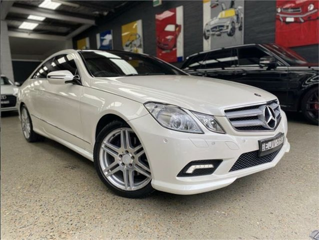 Used Mercedes-Benz E-Class C207 E350 Avantgarde Glebe, 2009 Mercedes-Benz E-Class C207 E350 Avantgarde White Sports Automatic Coupe