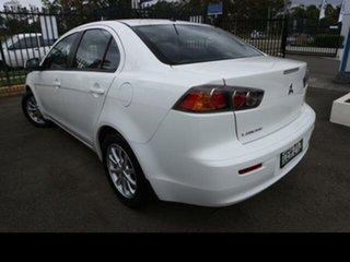 2011 Mitsubishi Lancer CJ MY11 ES White 6 Speed CVT Auto Sequential Sedan.