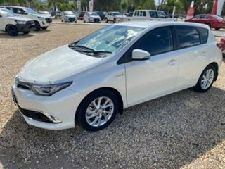 2017 Toyota Corolla ZWE186R MY16 Hybrid Crystal Pearl Continuous Variable Hatchback.