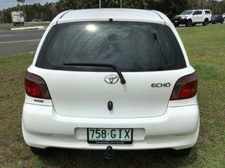 2001 Toyota Echo NCP10R Polar White 5 Speed Manual Hatchback
