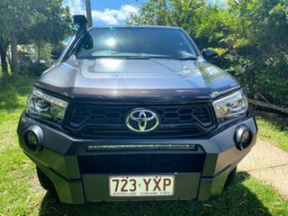 2019 Toyota Hilux GUN126R Rugged X Double Cab Magnetic Grey 6 Speed Sports Automatic Utility.