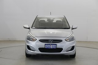 2017 Hyundai Accent RB4 MY17 Active Sleek Silver 6 Speed Constant Variable Hatchback.