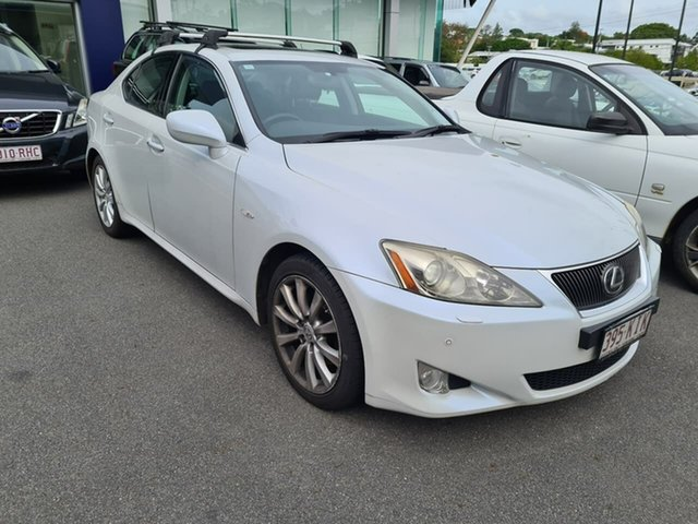 Used Lexus IS GSE20R IS250 Sports Luxury Mount Gravatt, 2007 Lexus IS GSE20R IS250 Sports Luxury White 6 Speed Sports Automatic Sedan