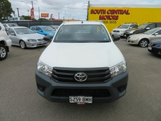 2016 Toyota Hilux TGN121R Workmate White 5 Speed Manual Utility.