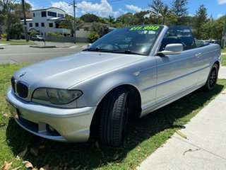 2003 BMW 3 Series E46 MY2004 330Ci Steptronic Silver 5 Speed Sports Automatic Convertible.