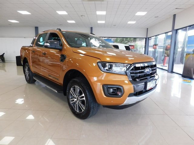 Pre-Owned Ford Ranger PX MkIII 2020.25MY Wildtrak Wonthaggi, 2020 Ford Ranger PX MkIII 2020.25MY Wildtrak Orange 10 Speed Sports Automatic Double Cab Pick Up