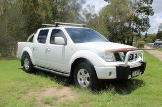2010 Nissan Navara D40 ST White 5 Speed Automatic Utility.