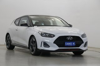 2019 Hyundai Veloster JS MY20 Turbo Coupe Premium Chalk White 6 Speed Manual Hatchback