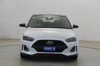 2019 Hyundai Veloster JS MY20 Turbo Coupe Premium Chalk White 6 Speed Manual Hatchback.