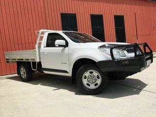 2015 Holden Colorado RG MY15 LS 4x2 White 6 Speed Manual Cab Chassis.