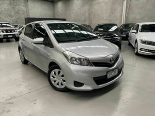 2013 Toyota Yaris NCP131R YRS Silver 4 Speed Automatic Hatchback.