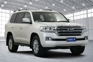 2020 Toyota Landcruiser VDJ200R VX White 6 Speed Sports Automatic Wagon.