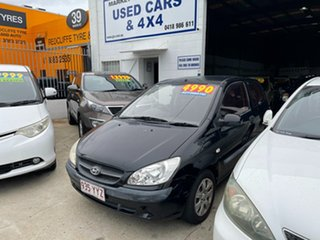 2009 Hyundai Getz TB MY09 S Black 4 Speed Automatic Hatchback.