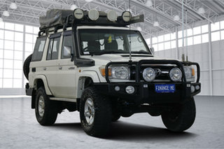 2014 Toyota Landcruiser VDJ76R MY13 GXL White 5 Speed Manual Wagon.