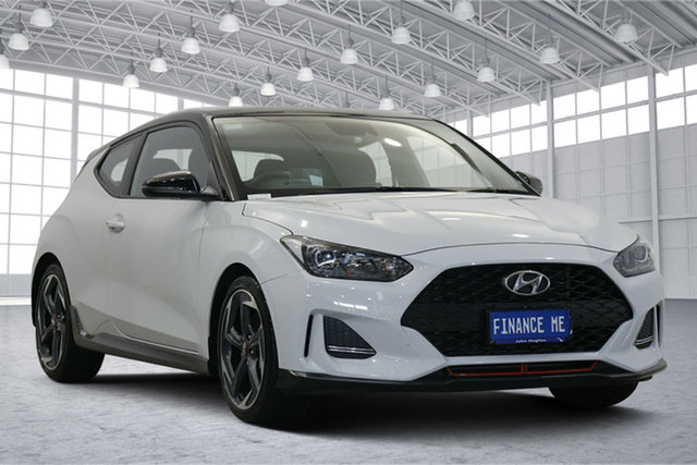 Used Hyundai Veloster JS MY20 Turbo Coupe Premium Victoria Park, 2019 Hyundai Veloster JS MY20 Turbo Coupe Premium Chalk White 6 Speed Manual Hatchback