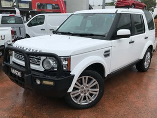 2012 Land Rover Discovery 4 MY12 3.0 SDV6 SE White 6 Speed Automatic Wagon.
