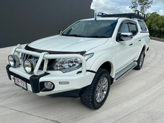 2018 Mitsubishi Triton MQ MY18 GLS Double Cab White 6 Speed Manual Utility.