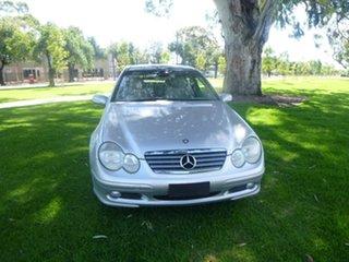 2002 Mercedes-Benz C-Class CL203 C230 Kompressor Sports Silver Automatic Coupe.