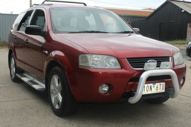 Used Ford Territory SX TS (4x4) West Footscray, 2005 Ford Territory SX TS (4x4) Maroon 4 Speed Auto Seq Sportshift Wagon