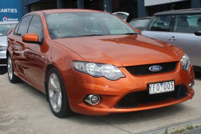Used Ford Falcon FG Upgrade XR6 West Footscray, 2011 Ford Falcon FG Upgrade XR6 Orange 6 Speed Auto Seq Sportshift Sedan